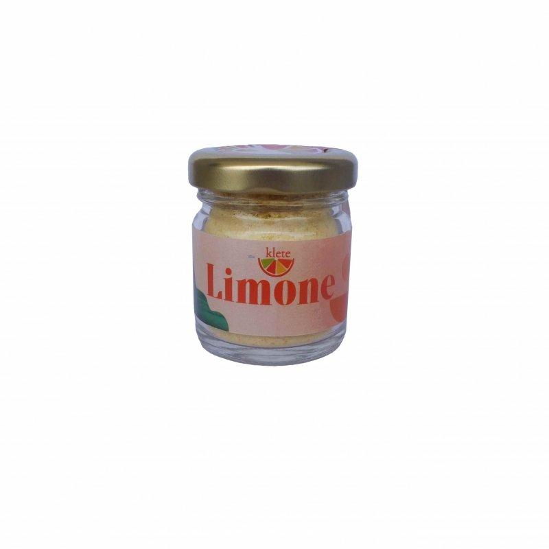 scorze di limone essiccate in polvere